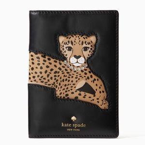 Kate Spade leopard passport holder
